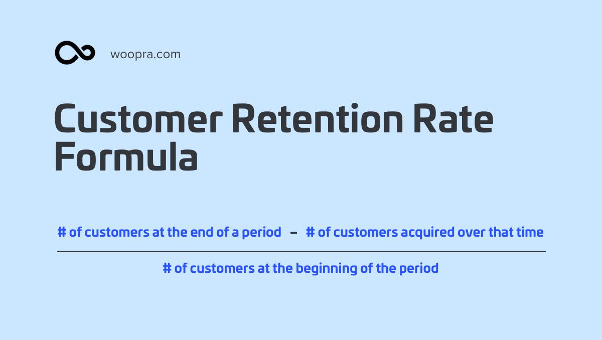 Customer Retention Rate Formula